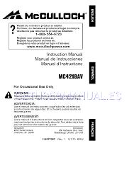 mcculloch motosierras 966625301 manual de instrucciones descargar