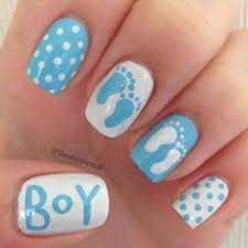 Baby Boy Nail Art Designs