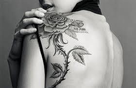 100 rose stem tattoo designs 14 long stem rose tattoo