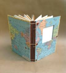 expandable scrapbook expandable travel journal with vintage world map pockets and