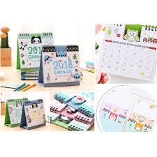 minion desk calendar 2017 cute hello kitty stitch minions totoro doraemon 2018 desk table