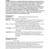 administrative attractive resume examples for network