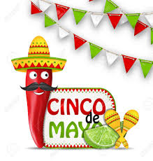 cartoon cinco de mayo illustration holiday celebration background for cinco de mayo