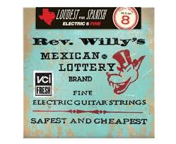 Medium Light Guitar Strings by Dunlop Rev Willy U0027s Lottery Brand Fine Gauge 8 40 Electric Guitar