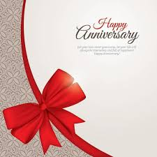 happy anniversary greeting card template vector 123freevectors