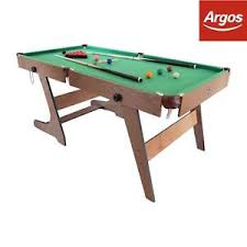 6 ft billiard table hy pro 6ft folding snooker and pool table from the official argos
