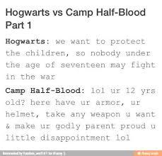 hogwarts vs camp half blood fandoms pinterest hogwarts