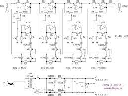 4 band equalizer schematic diagram schematic equalizer