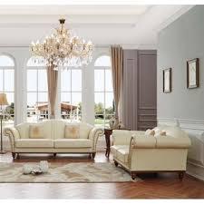 off white leather sofa set wayfair