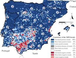 Iberian Peninsula Map Sensors Free Full Text Evaluating The Consistency Of The 1982