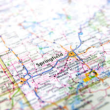 Springfield Map Close Up Map Of Springfield Missouri Stock Photo Picture And