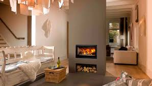 natural elegant design of the modern fireplace with hearth design