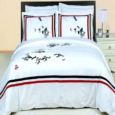 King Size Cotton Duvet Cover Duvet Covers Hotel Black White Red Embroidered Egyptian Cotton