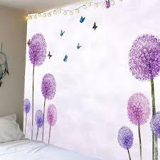 waterproof dandelion butterfly pattern wall hanging tapestry