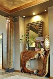 natural wood console table interior entrance design ideas contemporary rustic entrance with