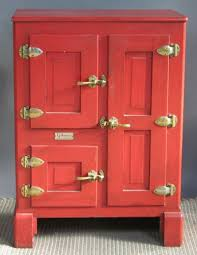 i think red would be a great color to paint an antique ice box