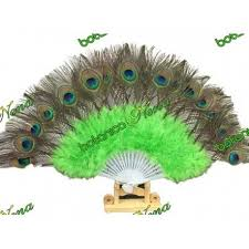 peacock feather fan peacock feather fan green for inle