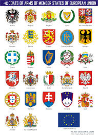 European Flags Images Coats Of Arms Of Member States Of European Union Vector Clipart