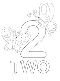 number coloring pages printables