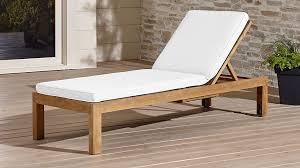regatta natural chaise lounge with sunbrella cushion crate and