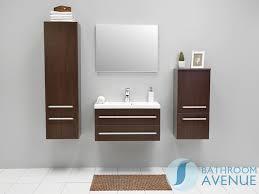 Wenge Contemporary Two Drawer Vanity Unit Resin Stone Basin - Designer vanity units for bathroom