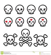halloween background kawaii kawaii cute ghost for halloween icons set stock illustration