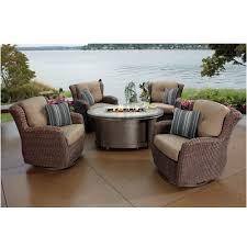 Sunbrella Outdoor Cushions Costco 2300 Costco Kirkland Signature Braeburn 5 Piece Woven Fire Chat