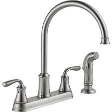 delta high arc kitchen faucet delta lorain stainless 2 handle deck mount high arc kitchen faucet