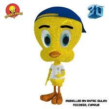 rigged tweety bird 3d model cgtrader