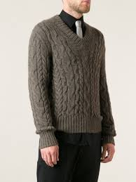 tom ford sweater lyst tom ford cable knit sweater in brown for