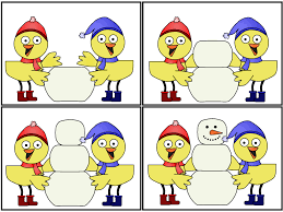 a child u0027s place snowman sequence cards