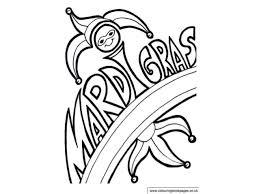 mardi gras colouring pages and kids colouring activities
