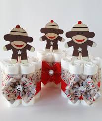 Sock Monkey Favors by Sock Monkey Mini Cakes Sock Monkey Baby Shower Decor