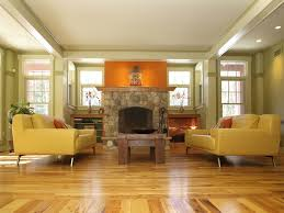 yellow leather sofa living room contemporary with built ins