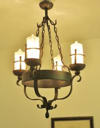 Vintage Candle Chandelier Gorgeous Vintage French Wrought Iron Chandelier Gothic Light Lamp