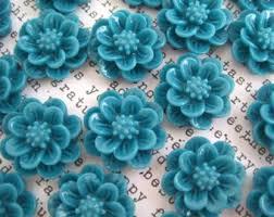 teal flowers teal flowers etsy