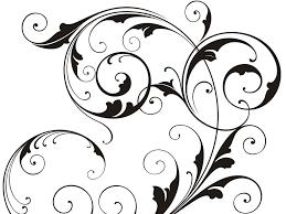 black and white swirl design free download clip art free clip