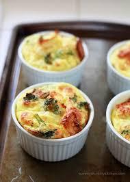 egg strata casserole overnight mini baked egg casseroles with broccoli and ciabatta