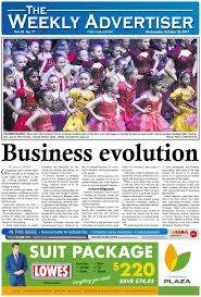 the weekly advertiser wednesday october 25 2017 by the weekly