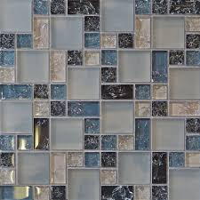 Blue Glass Tile Kitchen Backsplash Sample Blue Crackle Glass Mosaic Tile Kitchen Backsplash Bath