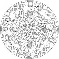 printable detailed mandala coloring pages mandalas color
