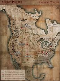 Pirates Map Map Of America Airship Pirates