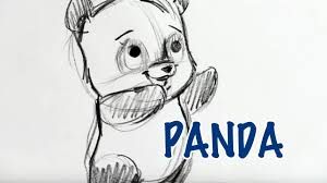 how to draw a panda step by step youtube