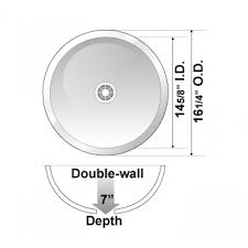 round 18 gauge stainless steel drop in undermount countertop