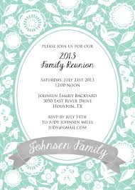 Designs For Invitation Cards Free Download Family Reunion Invitation Template