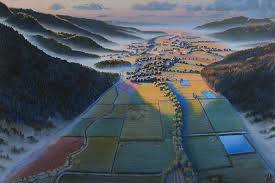 Wayne Thiebaud Landscapes by Stephen Hannock Exhibitions Berggruen Gallery