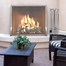Single Fireplace Screen by Newport Stainless Steel Single Panel Pilgrim Hearth