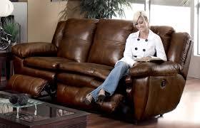 Top Grain Leather Reclining Sofa Catnapper Sonoma Top Grain Leather Reclining Sofa Cn 4971