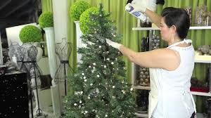 how to decorate a white flocked tree modern