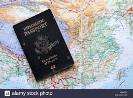 United States On A Map by Diplomatic Passport Of The United States Of America On A Map Of